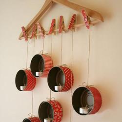 铁罐子废物利用 DIY制作漂亮的壁挂式烛台