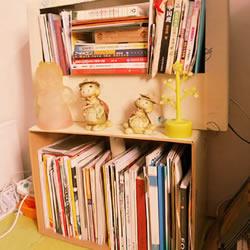 废弃纸箱改造成简易书架的方法教程