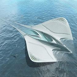 人类的未来?能乘载7000人的蝠鲼外形海上城市