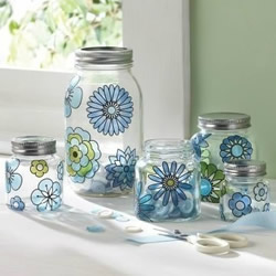 玻璃瓶罐废物利用改造 简单的文艺范儿小