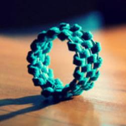 很有特色的一款皮革编织戒指的制作方法
