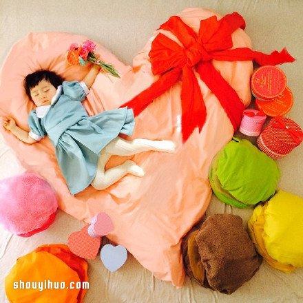 超可愛的兒童攝影,孩子從此都會期待睡覺了吧