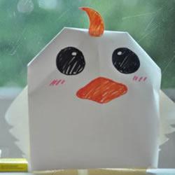 简单折纸制作好玩动物帽子的方法步骤图