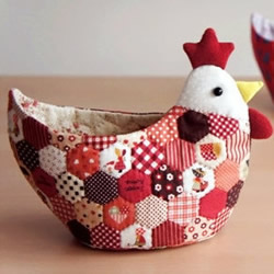 不织布小公鸡收纳筐的制作方法图解教程