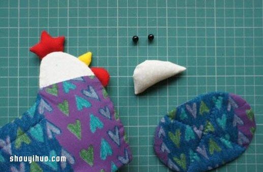 不織布小公雞收納筐的製作方法圖解教程