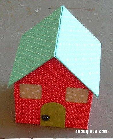 幼儿园最简单手工花朵_娃娃屋的制作方法 可爱小房子模型手工DIY_手艺活网