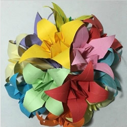 百合花的折法图解 怎样折百合花的折法教程