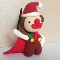 橡皮泥或超轻粘土制作小丑的方法图解教