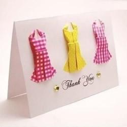 折纸衣服步骤图 手工折连衣裙的折法图解教程