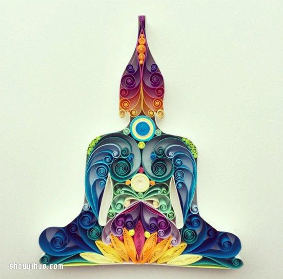 精致优美的卷纸艺术 色彩清新亮丽让人迷 -  www.shouyihuo.com