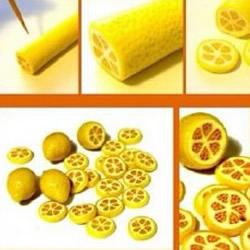 超轻粘土柠檬的制作方法 柠檬片用粘土做步骤图解