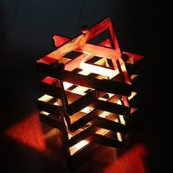 快递盒废物利用DIY制作浪漫六角灯的图解