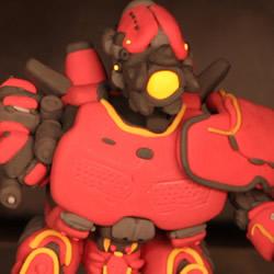 粘土制作机器人模型暴风赤红手工DIY图解