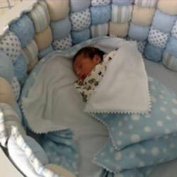 碎布头废物利用制作保护性超好婴儿床、