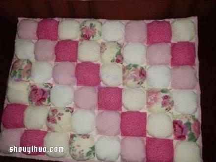 碎布頭廢物利用製作保護性超好嬰兒床、收納籃