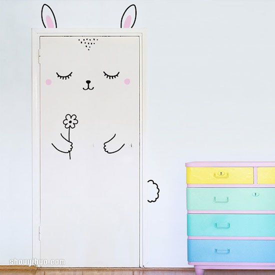 治癒系門貼設計:關門都擋不住的可愛魅力