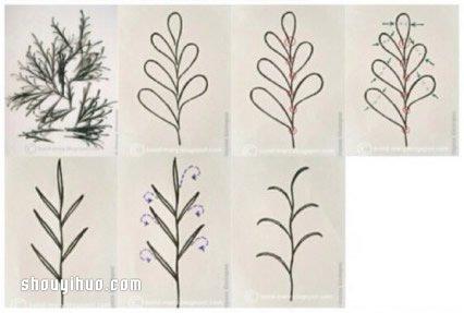 衍纸画制作方法教程 手工衍纸立体画DIY图解 -www.shouyihuo.com