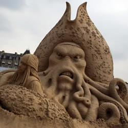 好莱坞电影主题沙雕作品 感受沙粒的艺术