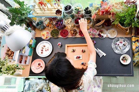 森林系花藝飾品工作室:DOOORS乾燥花果手作