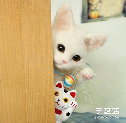 純手工製作羊毛氈貓咪玩偶 哪只最投你緣呢?