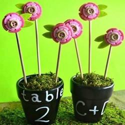 DIY创意手工布艺花插 花朵造型不织布花插