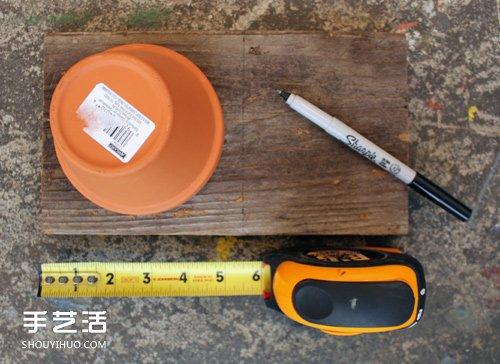 多层花盆挂架diy制作 可悬挂花盆架制作教程 -  www.shouyihuo.com