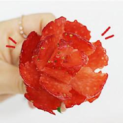 草莓切花的方法图解 切草莓花的步骤教程