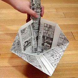 簸箕的折法图解 废旧报纸折簸箕的方法教程