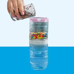水的实验:给泥水洗澡澡 过滤获得清水