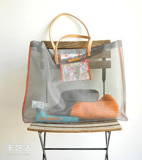 窗紗網材質沙灘袋子的製作方法詳細圖解教程