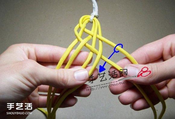 六股繩手鏈的編法圖解 六股繩編手鏈的方法