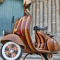 意大利木匠的惊艳摩托车改造 送给女儿的