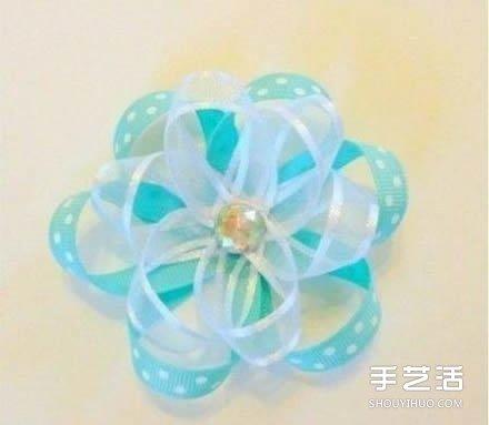 緞帶花製作DIY教程 緞帶花朵的做法圖解