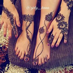 Henna印度传统人体彩绘 不用纹身也能美美的
