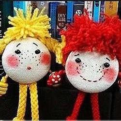 丑萌丑萌的雀斑布娃娃手工制作图解教程