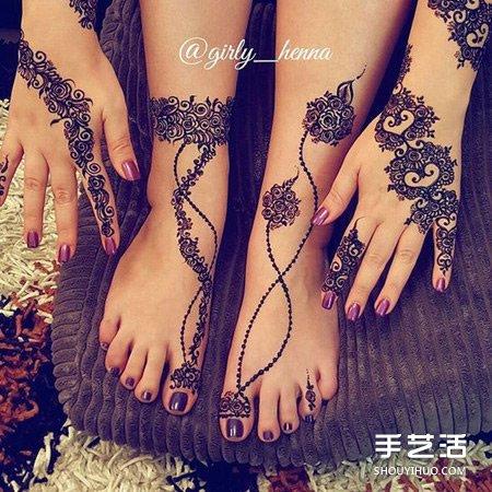 Henna印度传统人体彩绘 不用纹身也能美美的 -  www.shouyihuo.com