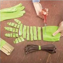 塑胶手套废物利用小制作 居家必备技能学