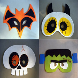 布艺万圣节面具DIY 万圣节恐怖面具手工制