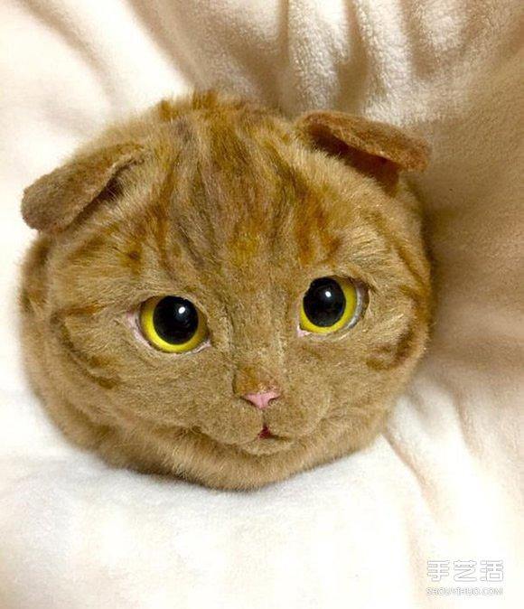 超逼真羊毛氈貓肩包 今天就帶着我的貓出門吧
