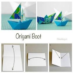折纸船的方法步骤图解 手工纸船的折法教程