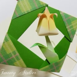 折纸相框的方法图解 相框的折法步骤教程