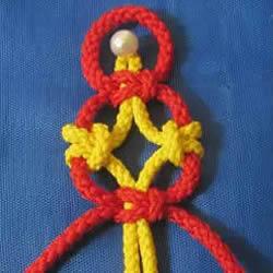 10种用4根绳编织的绳编的编法图解教程