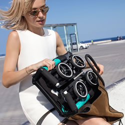 GB Pockit:可塞进手提包的便携折叠婴儿车