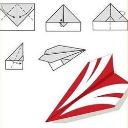 10种经典纸飞机的折法 折纸飞机的方法大