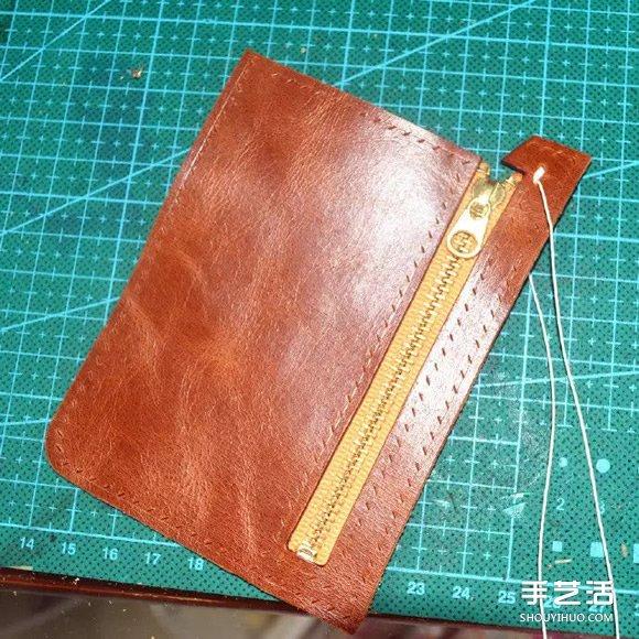 皮質錢包DIY製作圖解 手工真皮錢包製作教程