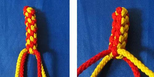 10種用4根繩編織的繩編的編法圖解教程