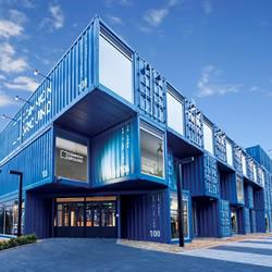铁皮货柜集装箱堆叠改造的高级商场