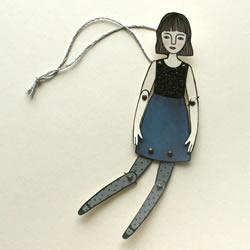 插画和皮影的融合 国外艺术家制作的皮影