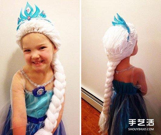 愛心手工毛線假髮 讓癌症小女孩變身最萌小公主
