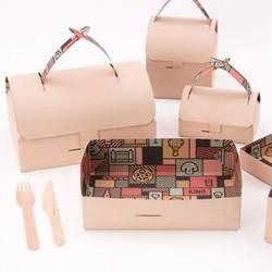 创意折纸餐盒DIY 变形前它居然是装饰画